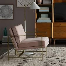 cloth chairs furniture. Metal Frame Upholstered Chair - Dusty Blush Cloth Chairs Furniture H