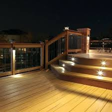 outdoor deck lighting this recessed stair light kit exterior steps stairs illuminated safety low voltage soffit