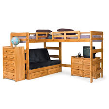 Loft Bedroom Furniture Chelsea Home Furniture 3662001 S L Shaped Twin Futon Loft Bed With