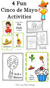 27 pcs cinco de mayo fiesta party decoration supplies with cactus avocado fiesta balloons, tissue pom paper flowers, triangular pennants, circle cinco de mayo fiesta serape poncho costume for adults and kids fiesta event, colorful theme fun and festive celebrations, party favor (sombrero. The Cozy Red Cottage 4 Fun Cinco De Mayo Activities Free Printables