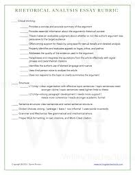 rhetorical analysis essay writing teacher tools rhetorical analysis rubric