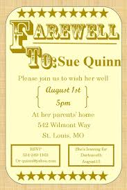 office farewell party invitation