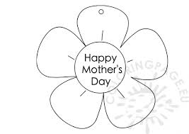 Flower shaped for mother's day coloring page