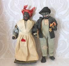 Vintage black rag dolls