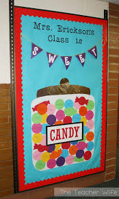 classroom door decorations back to school. Fine School Candy Themed Bulletin Board To Classroom Door Decorations Back School L