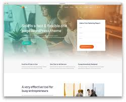 Best One Page Design 40 Best One Page Wordpress Themes 2019 Colorlib