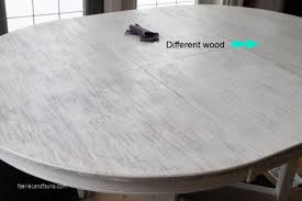 how to refinish a table in white stain