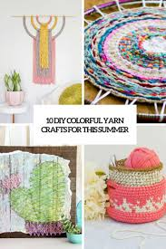 10 colorful diy yarn crafts for this summer