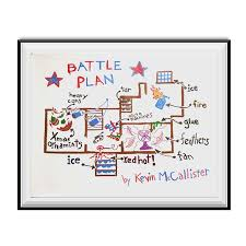 home alone poster battle plan.  Alone Battle Plan Poster Home Alone Movie Kevin McCallister Christmas Gift Wall  Map On C