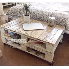 Reclaimed Pallet Coffee Table With Wheels  Pallet Furniture DIYPallet Coffee Table On Wheels