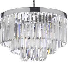 odeon crystal fringe 3 tier chandelier bonanza