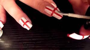 England Flag Nail Designs England Flag Nail Art Tutorial Fifa World Cup 2010 Very Easy Design To Do