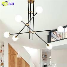 glass ball chandelier white modern retro led indoor tree branch lamp in pendant lights black glass ball chandelier
