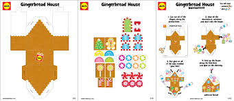 Free Craft Printables Templates Gingerbread House Craft Project With Free Printable