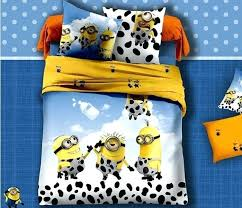 minion bed sheets cow minion bed bedding set king queen size cartoon for kids bedspreads duvet