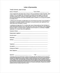 visa letter sample visa sponsorship letter 7 documents in pdf word