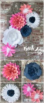 grove oversized metal flower wall navy peach amp pink paper flower wall backdrop