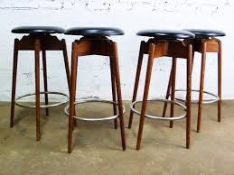 Bar Stools : Wooden Framed Grey Upholstered Counter Stools ...