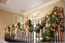 Christmas Garlands For Stairs Happy Holidays Christmas Garland For Stairs