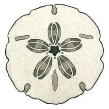 beach themed rugs australia round coastal rug realistic this is a 3 ft sand dollar hook