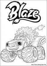 Blaze And The Monster Machines Coloring Pages On Coloring Bookinfo