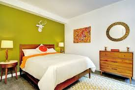 mid century modern bedroom. Accent Wall In A Midcentury Modern Bedroom Mid Century
