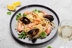 Spaghetti Seafood Pasta With Clams And ...