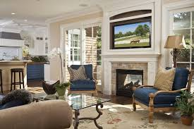 los angeles fireplace living room traditional with wall mounted tv trestle standard height dining tables