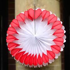 paper fan decorations. large double heart paper fan decoration decorations s