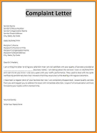 complaint letter example buisness letter forms 6 complaint letter example