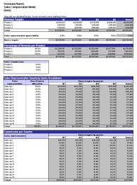 Sales Commissions Template Download Sales Compensation Model
