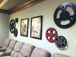themed wall art theatre room wall art peaceful design media room wall decor decorations decorative