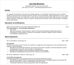 Cosmetology Resume Template Unique 48 Cosmetology Resume Templates PDF DOC Free Premium Templates