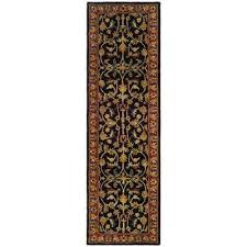 heritage black red 2 ft x 20 ft runner rug