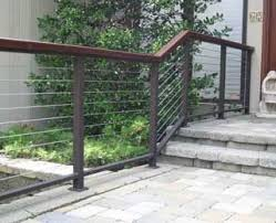 modern cable fence. Contemporary Fence This Modern Cable Railing Is Fabricated With A 1 By 2 Aluminum Top And  Bottom Bar IPE Wood Molding Square Posts 316 Stainless  To Fence L