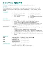 Gallery Of Social Worker Resume Examples