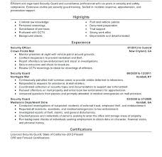 Security Supervisor Resume Simple Security Supervisor Resume Cover Letter Samples Guard Objective