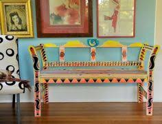Hand Painted Bench Perfect At The End Of A Bed  Decadent Avenue Hand Painted Benches