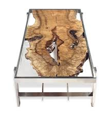 rotsen furniture single slab stainless steel. book matched curly myrtle slabs under glass top coffee table 32 rotsen furniture single slab stainless steel a