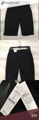 White House Black Market Bermuda Shorts Black Premium Bi