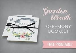 Free Printable Wedding Ceremony Programs Blue Beach Program Wedding Ceremony Template Tri Fold Meetwithlisa