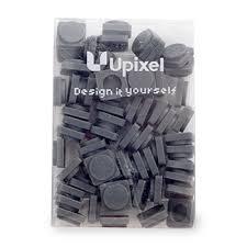 Пиксельные фишки <b>маленькие</b>, <b>Upixel</b>, 60 шт., темно-серый, Китай