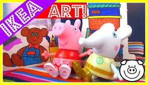 Peppa Pig Bedroom Furniture Peppa Pig Decorates Fun Ikea House Spexa Dollhouse Huset Bedroom