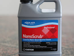 nanoscrub is an abrasive cream cleanser recommended by the marble man to remove stubborn surface stains and residues from natural and engineered stone