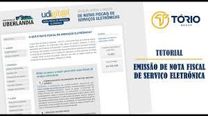 Emissão de Nota Fiscal de Serviço Eletrônica - Prefeitura de Uberlândia/MG  - YouTube