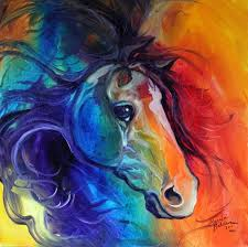 wild horse abstract painting