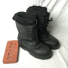 details about lacrosse iceman ice fishing winter snow black leather boots with liner usa made
