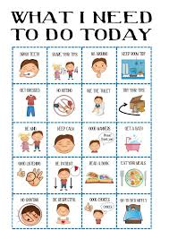 Boys Behaviour Chart Kids Daily Planner Toddler Routine