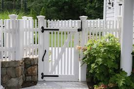 wood picket fence gate. White-wood-picket-fence-gate-by-Atlas-Outdoor-CT Wood Picket Fence Gate T