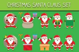 Christmas Santa Claus Set Graphic By Bayu Baluwarta Creative Fabrica Cards Sign How To Make Tshirts Santa Claus